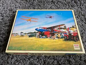 Vintage plane 2000 Piece Jigsaw Puzzle Waddingtons Summer Rally John Young