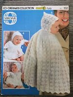 "Sirdar Knitting Pattern: Baby Cape, Matinee Coat, Dress,etc, 3ply, 18"" 132"