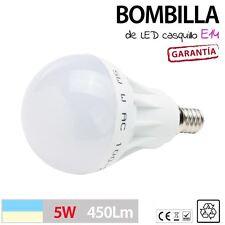 BOMBILLA LED 5W casquillo E14 fino lampara luz iluminacion BLANCO FRIO