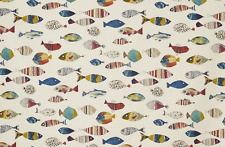 BLACKOUT MTM ROMAN BLIND PRESTIGIOUS GONE FISHING VINTAGE FISH BLUE GREEN YELLOW