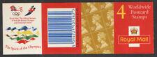 GB QEII BARCODE Stamp Booklet GK7 4 x 35p 1995 OLYMPIC CYLINDER CYL W3 W4