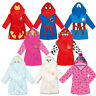 Kids SuperSoft Hooded Bathrobe Fleece Dressing Gown Boys Girls House Coat