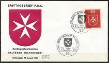 Germany (West) 1969 FDC -Malteser Hilfsdienst Welfare Organisation Maltese Cross