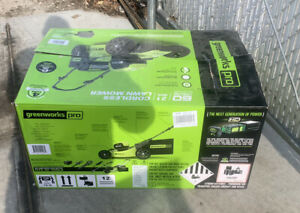 """Greenworks Pro 60V Li-ion Push 21"""" Cordless Electric Lawn MOWER ONLY- NO BATTERY"""