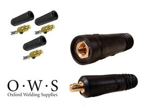 Dinz Type Welding Connectors - Cable Plug (Male) and Socket (Female)