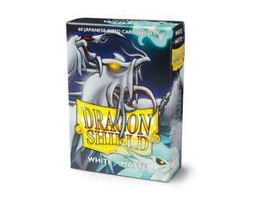 (60) Dragon Shield Matte JAPANESE/Mini Size Card Sleeves - White AT-11105