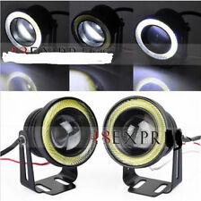 "2 x 2.5"" COB 25W LED White Car Fog Angel Eyes Halo Spot Light Head Lamp Bulb 12V"