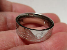 14K WHITE GOLD WIDE FLAT BAND RING 8.33 GRAMS SIZE 10.75