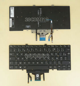 New For DELL Latitude 5400 5401 2019 Keyboard Backlit Pointer FR French Clavier