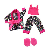 """Pajamas Suspender Clothes Slipper Shoes for 18"""" AG American Doll My Life Dolls"""