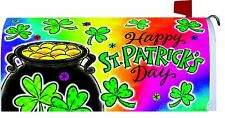 Happy St Patricks Day Pot of Gold Magnetic Mailbox Cover