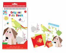 Origami Pets Book, Printed animal sheets, instructions and sticker sheets, kids