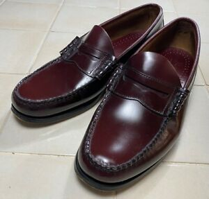 GH Bass Weejun Larson Penny Loafers – Burgundy Leather - UK 10