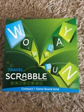 Mattel Games Travel Scrabble Compact Game Pre-owned Complete In Good Condition