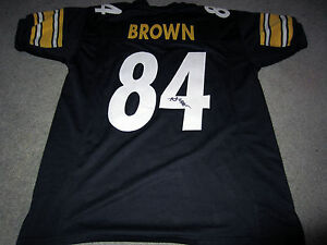 ANTONIO BROWN Pittsburgh Steelers Autographed SIGNED Custom Jersey w/ BAS COA XL