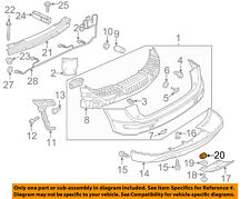 AUDI OEM 09-17 Q5 Rear Bumper-Lower Trim Retainer 8R0807180