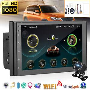 7'' 2 Din Autoradio Video Écran Tactile bluetooth Wifi GPS NAVI FM USB + Cadre