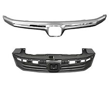 Grille Black w/Chrome Molding Fits 2012 Honda Civic Sedan HO1200206 / HO1210139