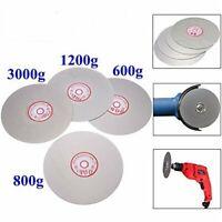 4PCS 6'' Diamond Coated Flat Lap Wheel Grinding Disc Tool 600 800 1200 3000 Grit