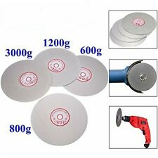 4PCS 6'' Diamond Coated Flat Lap Wheel Grinding Disc Tool 600 800 1200 3000 Grit