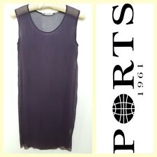 Ports 1961 $275 sheer purple gauze silk cover-up/dress~2/4