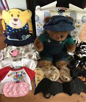Build A Bear BAB Plush & Clothes, Shoes, Box, Stickers VGUC LOT