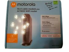 Motorola MG7550 16x4 High Speed Cable Modem - Black (purchased 2/2020 for $149