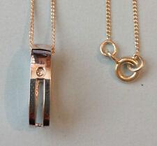 Sterling Silver Oval Fine Diamond Necklaces & Pendants