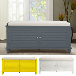 Hallway Shoe Storage Ottoman Bench Stool Toy Blanket Organiser Window Seat Wood