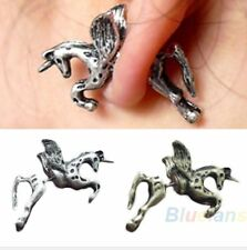 1x Unicornio Caballo Pegasus Arito volando Caballo Pony sólido de plata Kawaii Reino Unido