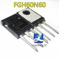 5pcs FGH60N60UFD 600V,60A, 1.8V, Low VCE(ON) Field Stop IGBT TO-247 new