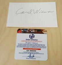 Carl Wieman 2001 Nobel Prize Physicist Original Autographed Index Card COA