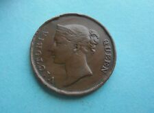 Straits Settlement, East India Co., One Cent 1845, Fair Condition.