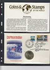 More details for usa coin cover, first man on the moon 20th anniversary - moon port cancel