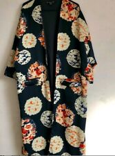 ZARA BLUE FLORAL KIMONO AND TROUSERS SET CO-ORD SIZE S-M