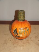 Captain Morgan HALLOWEEN  Pumpkin Skull Rum Empty Bottle Craft Light