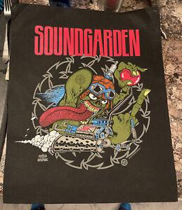 SOUNDGARDEN Vintage T-Shirt sample art Pellon 1991 Chris Cornell 2 sided grunge!