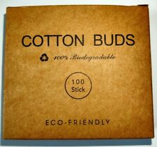 1 x Bamboo Cotton Buds Natural Wooden Stem Eco Friendly Earbuds Organic Swabs.