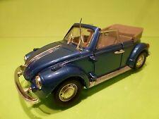 POLISTIL S15 VW VOLKSWAGEN BEETLE KAFER  CABRIOLET - RARE BLUE 1:25 - GOOD