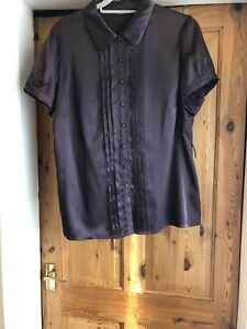 Ladies Marks And Spencer Purple Blouse Sz 20