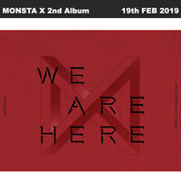MONSTA X Take.2 We Are Here 2nd Album CD+Book+Polaroid+Card+Etc+Tracking Number