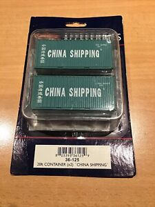 Bachmann 36-125 - Two 20ft Containers - China Shipping