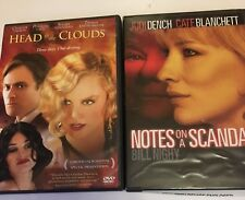 2 Movies DVD  Head in the Clouds & Notes on a Scandal with Judy Dench