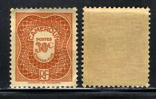 1947  CAMEROUN POSTAGE 📮DUE STAMP SCOTT J25 D3 30C