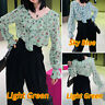 Ladies Sexy Ruffled Frill Top Long Sleeve V Neck Shirt Women OL Blouse Plus Size