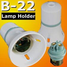 5 Pcs B22 Lamp Holder Bayonet Cap BC Bulb Light Fitting Accessories 240v White