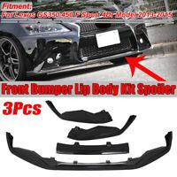 Front Bumper Lip Spoiler Splitter Glossy For Lexus GS350 GS450 F-Sport