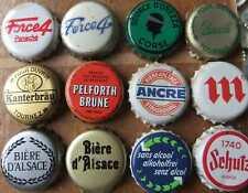 12 Kronkorken  FRANCE  OLD BEER  bottle caps chapas tappi capsule biere