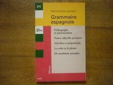 livre Grammaire espagnole