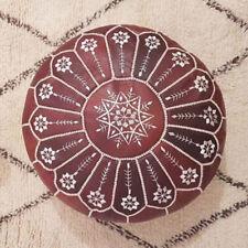 SALE! Moroccan Genuine Leather Boho Pouf Ottoman Footstool Pouffe Handmade pouf